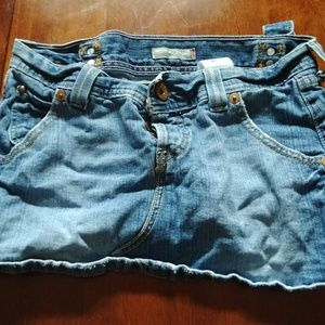 Levi Jean Skirt with Buckle